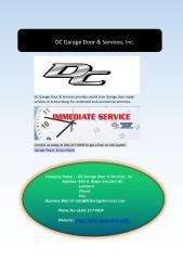 Garage Door Repair Services in Schaumburg.pdf