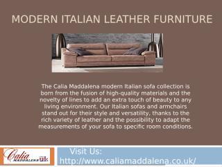 Modern Italian Leather Furniture.pptx