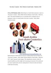 Post-shave Cosmetics - Men's (Male Toiletries) Market in Saudi Arabia - Outlook to 2021.doc