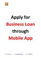 Apply for business loan in Mobile App.pdf