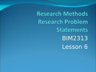 BIM2313 Lesson 6.ppt
